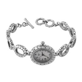 Royal Bali Collection - EON 1962 Swiss Movement Water Resistant Bracelet Watch (Size 7  to 8.5) in S