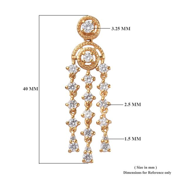 J Francis -  14K Gold Overlay Sterling Silver (Rnd) Earrings (with Push Back) Made with SWAROVSKI ZIRCONIA 2.29 Ct.