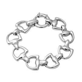 Rhodium Overlay Sterling Silver Bracelet (Size 8), Silver wt 25.46 Gms