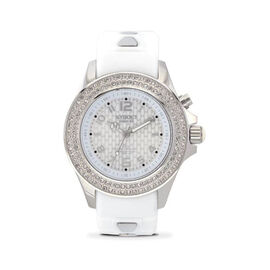 KYBOE Radiant Collection Silver 40MM Swarovski Crystal Studded LED Watch - 100M Water Resistance