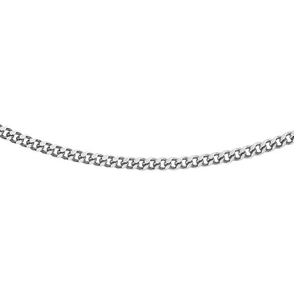 9K White Gold Diamond Cut Curb Chain (Size 22), Gold wt 2.80 Gms
