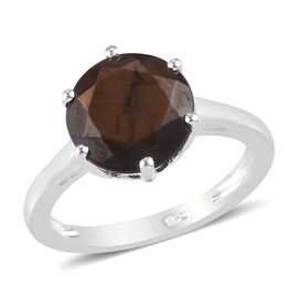 Zawadi Golden Sheen Sapphire Solitaire Ring in Sterling Silver 5.00 Ct.
