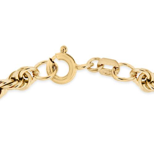 9K Yellow Gold Rope Bracelet (Size 7.25), Gold wt 2.20 Gms