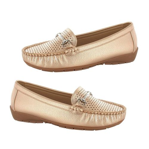 Ella Betty Loafer (Size 3) - Rose Gold
