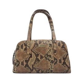 ASSOTS LONDON Eleanor Genuine Bourbon Leather Shoulder Bag (Size 35.5x21x7) - Tan