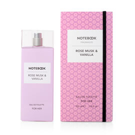 Notebook Fragrances: Rose Musk & Vanilla Eau De Toilette - 100ml