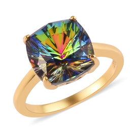 J Francis Crystal from Swarovski Vitrail Medium Crystal Ring in 14K Gold Overlay Sterling Silver