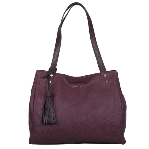 Bulaggi Collection - Gerbera Shopping Bag with Detachable Shoulder Strap and Tassel (Size 36x31x11cm