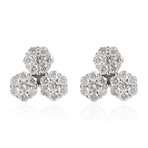 9K Yellow Gold SGL Certified Diamond (Rnd) (I3 / G-H) Earrings (with Push Back) 0.500 Ct.