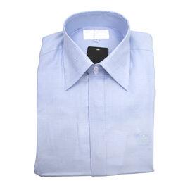 William Hunt - Saville Row Forward Point Collar Light Blue Shirt (Size 16.5)