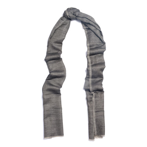 100% Cashmere Wool Dark Grey Colour Shawl (Size 200x70 Cm)