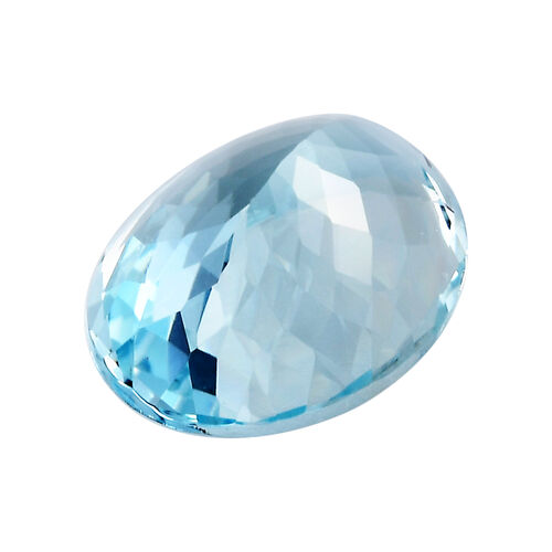 AAA Aquamarine Oval 16x12 Faceted 7.64 Cts