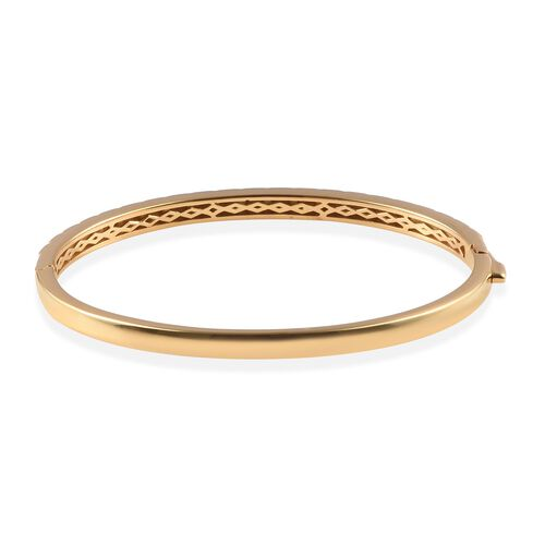 Designer Inspired- 14K Gold Overlay Sterling Silver Bangle (Size 7.5) - 19.20Gms