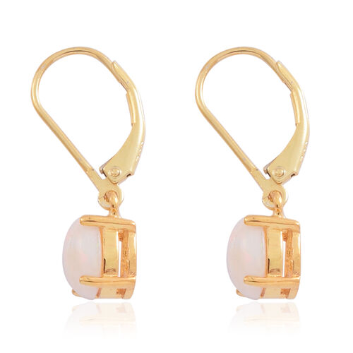 Ethiopian Welo Opal (Ovl) Lever Back Earrings in 14K Gold Overlay Sterling Silver 1.750 Ct.