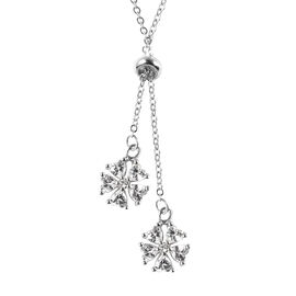 White Cubic Zirconia  Necklace (Size - 19) in Rhodium Overlay Sterling Silver 3.04 ct  3.040  Ct.