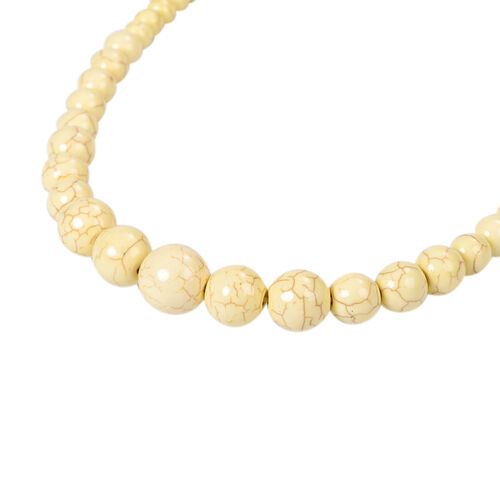 Yellow Howlite Beaded Necklace (Size 18-25) 279.00 Ct.