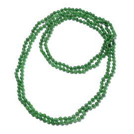 Extremely Rare 1050 Ct AAA Green Jade Beaded Necklace 100 Inch