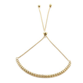 Royal Bali Collection- 9K Yellow Gold Adjustable Bolo Bracelet (Size 6.5-10), Gold wt 3.85 Gms