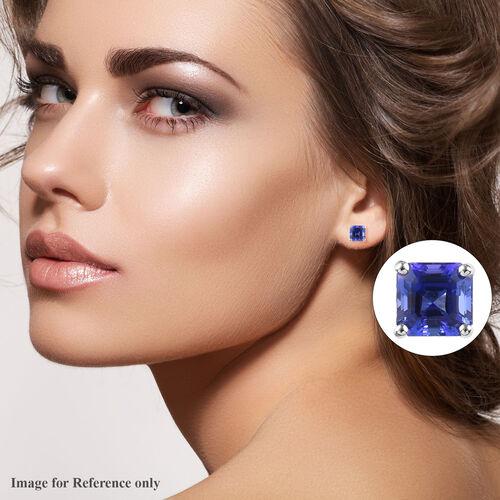 RHAPSODY 950 Platinum AAAA Tanzanite Stud Earrings (with Screw Back) 2.70 Ct.