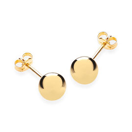 JCK Vegas Collection 9K Yellow Gold Ball Stud Earrings (with Push Back)