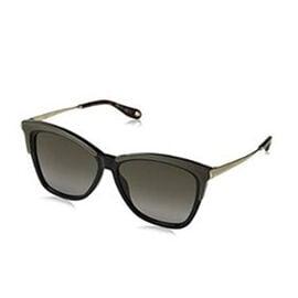 GIVENCHY Womens Black Gold Cat Eye Acetate Sunglasses