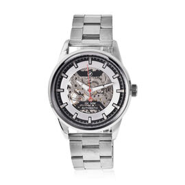 GENOA Automatic Movement 5ATM Water Resistant Watch with Chain Strap and Butterfly Buckle Clasp in S