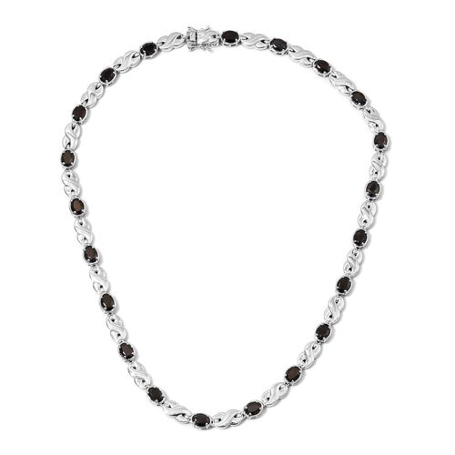 10.50 Ct Shungite Infinity Link Copper Station Necklace with Magnets in 950C Natural Copper 18 Inch