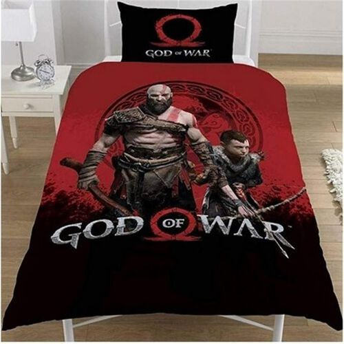 God of War Single Duvet Cover (Size 137x298 Cm) and Pillowcase (Size 50x75 cm) Set