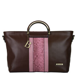 Bulaggi Collection- Fleur Handbag (Size 34x24x12 Cm) - Brown
