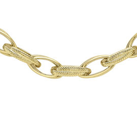 9K Yellow Gold Chain (Size 18) with Senorita Clasp, Gold wt 12.50 Gms