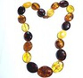 Natural Baltic Amber Beads Necklace (Size 24)