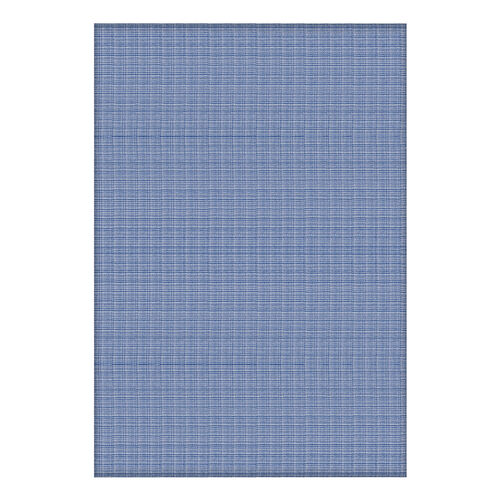 100% Cotton Blue and Whtie Colour Bed Cover (Size 240x170 Cm)