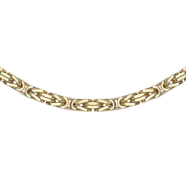 Byzantine Chain Necklace in 9K Gold Size 22 Inch
