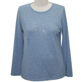 Auburn Supersoft Long Sleeve Top in Blue