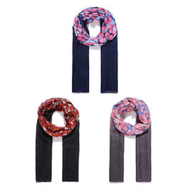 Set of 3 Lightweight Circle Print Scarves