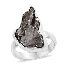 One Time Deal-Artisan Crafted Meteorite Ring in Sterling Silver 20.820 Ct.