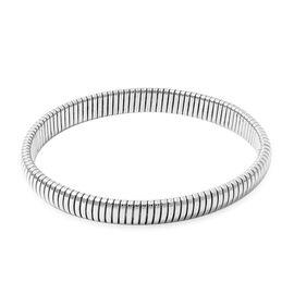 Viale Argento Rhodium Overlay Sterling Silver Bracelet (Size 8)