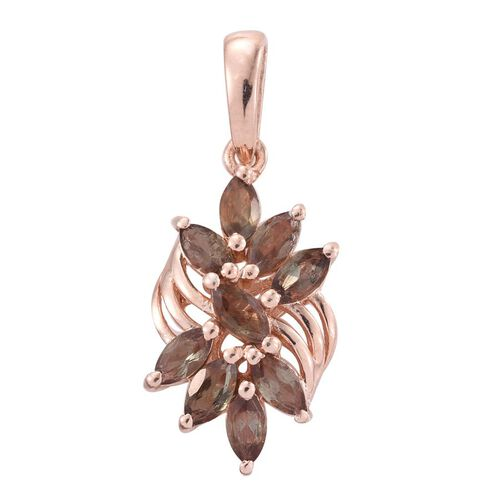 Brazilian Andalusite (Mrq) Pendant in Rose Gold Overlay Sterling Silver 1.250 Ct.