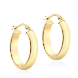 Creole Hoop Earrings in 9K Yellow Gold