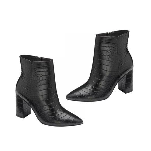 Ravel Croc-Print Soriano Ankle Boots (Size 4) - Khaki