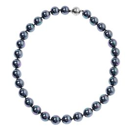 Tahitian Color Shell Pearl Beaded Necklace With Magnetic Lock Size 20 Inch