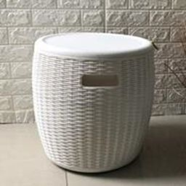 Weatherproof Ice Bucket in White(Size:43.5x43.5x47.5 cm)