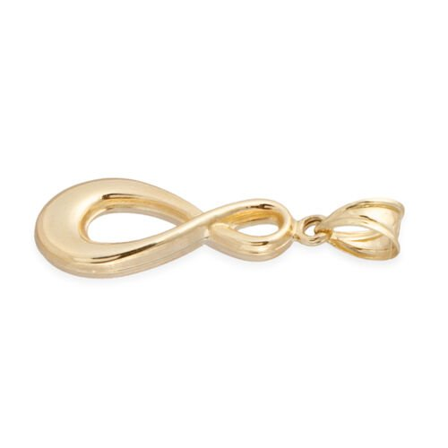 Istanbul Treasure Collection-  9K Yellow Gold infinity Pendant