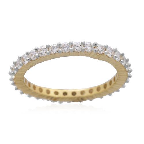 ILIANA 18K Yellow Gold IGI Certified Diamond (Rnd) (SI/G-H) Full Eternity Ring 1.000 Ct.