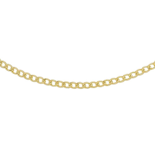 Hatton Garden Close Out Deal- 9K Yellow Gold Flat Curb Necklace(Size 20)