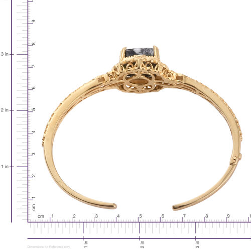 Austrian Pinolith (Cush) Bangle (Size 7.25) in ION Plated 18K Yellow Gold Bond 21.750 Ct.