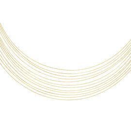 Hatton Garden Close Out Deal- 9K Yellow Gold 12 Strand Necklace (Size 15), Gold Wt. 9.14 Gms