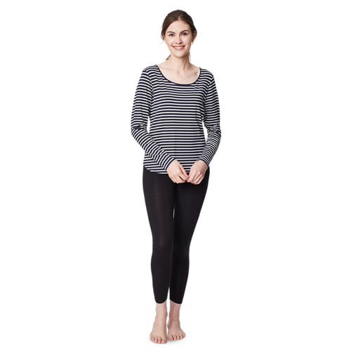 Thought Bamboo Base Layer Tee (Size 12) - Navy Stripe
