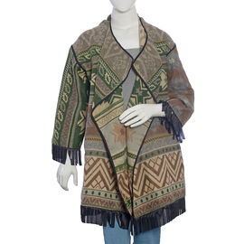 Brown, Beige and Multi Colour Cardigan (Size 75x50 Cm)