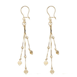 Royal Bali Drop Earrings with Hook in 9K Gold 2.30 grams